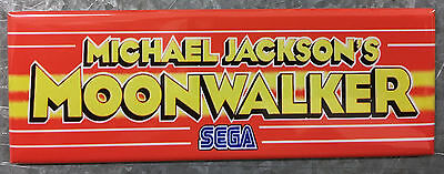 Michael Jackson's Moonwalker Arcade Game Marquee Fridge Magnet