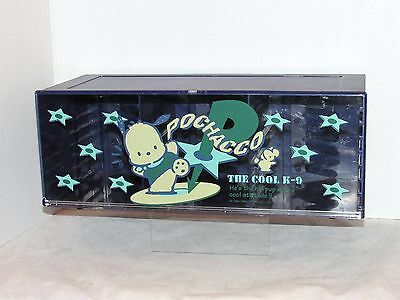1996 SANRIO POCHACCO Acrylic Counter DispIay Case HELLO KITTY VINTAGE RARE