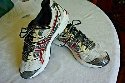 ab0588d71f2 ASICS Gel-Kanbarra 6 Running Athletic Shoes T138N Mens Size 10.5 / White Red