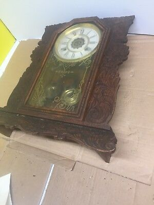 ANTIQUE CLOCK  Buxton BY Waterbury -clock -company For Parts