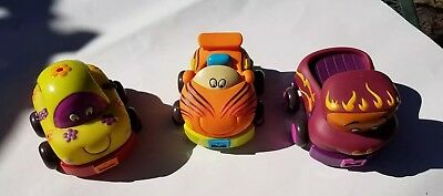 Just B You Toy Cars Partically Soft Pull Back Go Fast Taxi Bug Lot