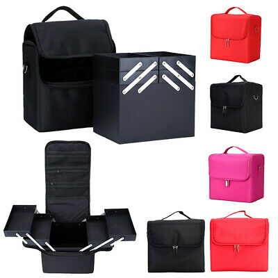 Professional Solid Makeup Organizer Large Capacity Multilayer Clapboard Bag Case