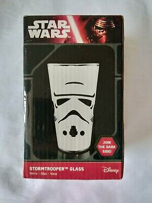 Official Star Wars Stormtrooper Design Drinking Glass Boxed Gift