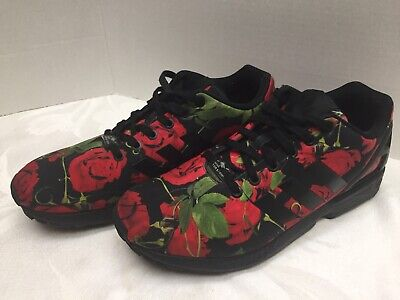ADIDAS TORSION ZX Flux Women's BlackRed Rose Athletic Shoes