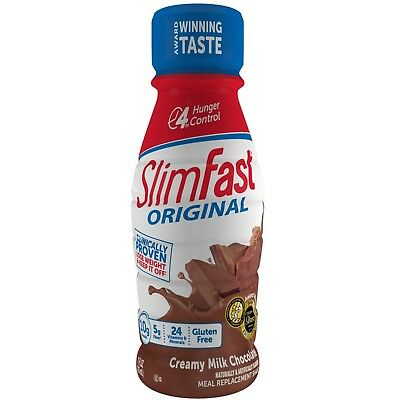 30 Bottles- SlimFast Original Weight Loss Chocolate Meal Replacement Shake 11 Oz