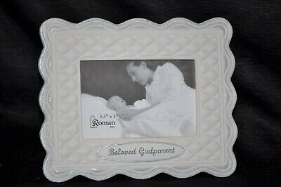 "NIB 3 1/2"" x 5"" BELOVED GODPARENT HALLMARK Picture Frame GIFT Keepsake BAPTISM"