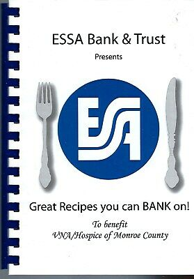 Stroudsburg Pa 2005 Essa Bank & Trust & Friends Community Cookbook Great Recipes