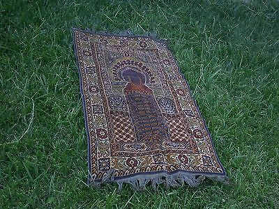Vintage Antique Ottoman Turkish Prayer Rug Carpet