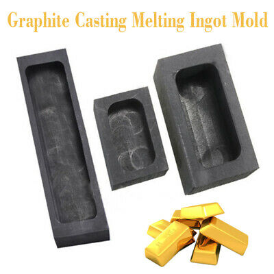 Graphite Casting Melting Ingot Bar Mold Refining Scrap For Copper Silver Gold UK