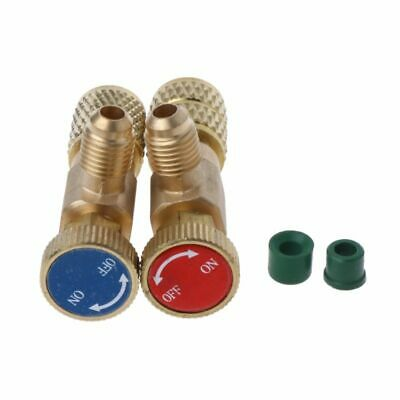 2Pcs Safety Valve R410A R22 Air Conditioning Quick Coupler Adapters Connector