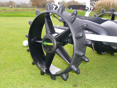 NEW ProRider Electric Golf Trolley Hedgehog Winter Wheels +FREE T-tour golf BALL