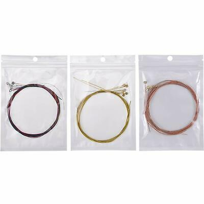 Classic Guitar Strings Replacement Set of 6 Acoustic Steel Brass/Copper/Colorful