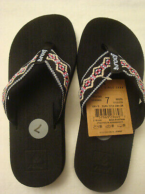 4de8005363e9 WOMEN S REEF BLACK BLUE PINK Sandy Flip Flop Beach Sandals Size 7 ...