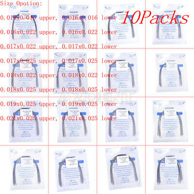 10x Dental Ortho Stainless Steel Arch Wires Rectangular Natural Form All Size