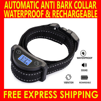 New No Barking Dog Training Anti Bark Collar Automatic Rechargeable Pet Trainer