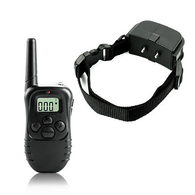 998D-1 300M Shock Vibra Remote Control LCD Electric Dog Training Collar OS