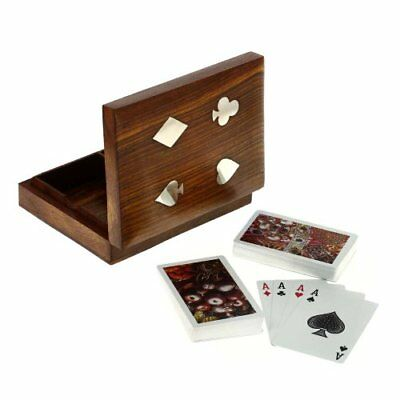 Playing Cards Wooden Box Handmade | Best Gift