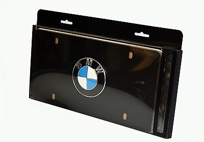 Genuine BMW OEM License Plate Frame Black Finish 82120010398