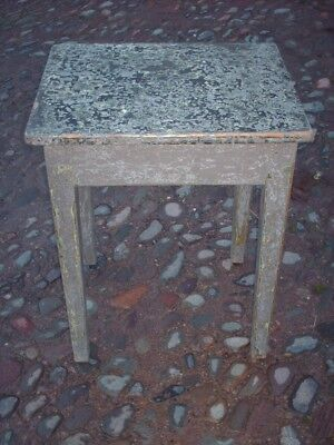 Antique Rustic Pine Painted Side Table