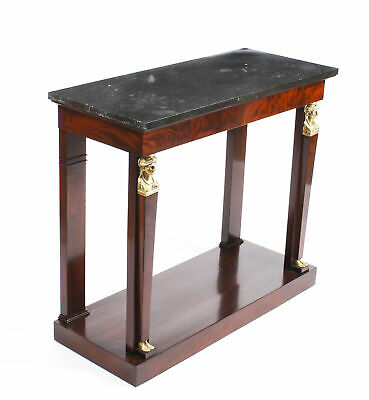 Antique French Empire Marble Top & Ormolu Console Table Early 19th Century
