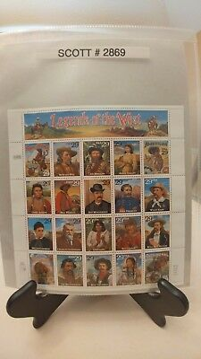Scott # 2869 - Legends of the West - 1 Sheet of (20) 29 Cent Stamps