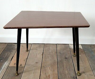 Vintage 1950s Mid Century Side  Coffee Table Dansette Legs Rockabilly Retro