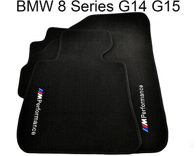 Floor Mats For BMW 8 Series G14 G15 With M Performance Emblem LHD Clips NEW
