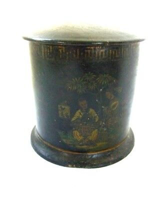 Old Japanese Makie Lacquer Box with Feathers Marked Zohiko