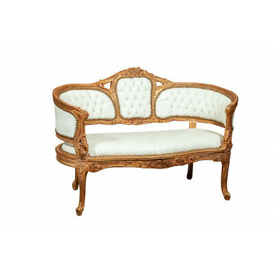 copy of Louis XVI French style solid beech wood armchair