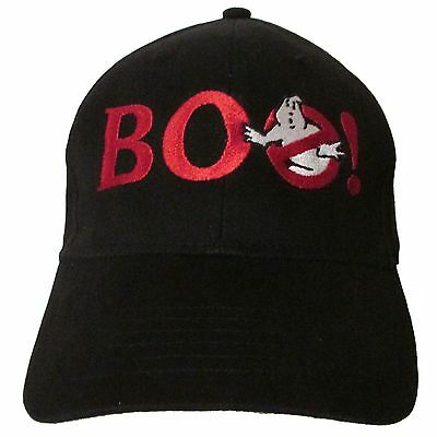 BOO! Halloween Ghostbusters Logo Embroidered Baseball Hat Cap OSFA or FlexFit