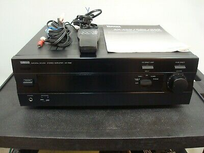 Yamaha AX-592 Integrated Stereo Amp WORKS GREAT With Remote & Manual