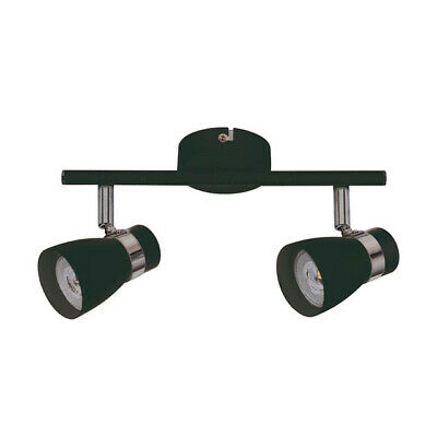 Kanlux ENALI LED Black Double Wall & Ceiling Adjustable Spotlight Downlight