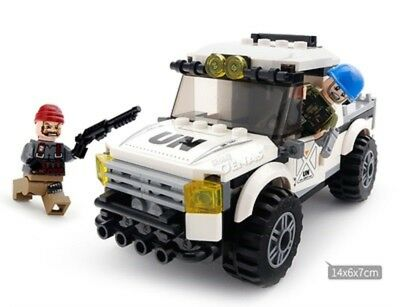 UN Peace keeping jeep vehicle humvee Soldier 3 Mini figure moc custom terrorist
