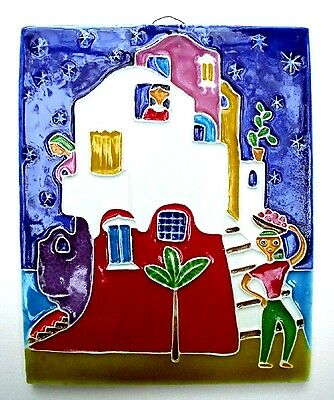 Mediterranean House Art Tile Beautiful Wall Decor Ceramic Art HANDMADE IN ITALY