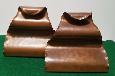 Antique Hand Wrought The Avon Copper Smith Bookends - Solid Copper - Art & Craft
