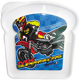 Smooth Industries MX Superstars Sandwich Container White/Blue