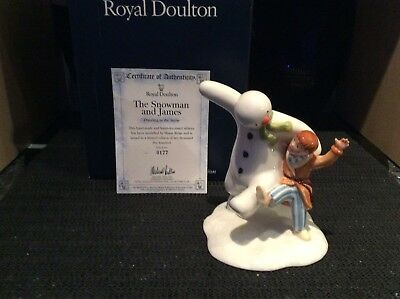 "Royal Doulton Ltd Edition Snowman 177/2500 ""DANCING IN THE SNOW"" Tableau. Nice!"