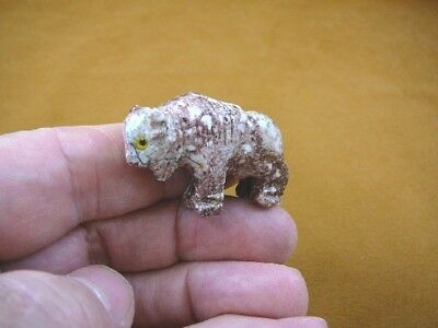 Y-BUF-31 little spotted BUFFALO calf bison carving stone gemstone SOAPSTONE PERU