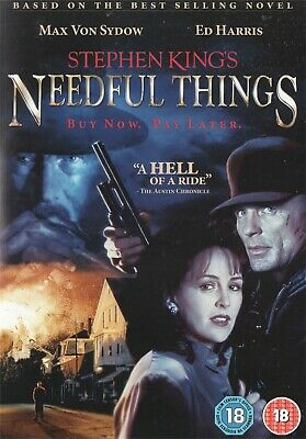 Needful Things - Stephen King, Max Von Sydow (Metrodome) - NEW Region 2 DVD