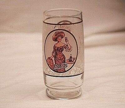 Old Vintage 1970's Victorian Lady Gibson Girl Pepsi Cola Soda Drinking Glass Ad