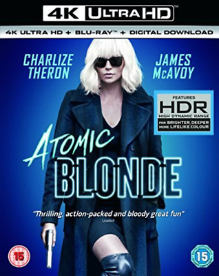 Atomic Blonde 4K Uhd+Blu Ray+Digital Dwn DVD NEW