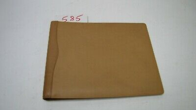 A4 landscape Beige Real Leather room information menu signing in book style 585