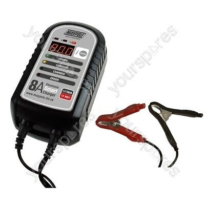 Maypole Battery Charger - 8A - 12V - Electronic Smart