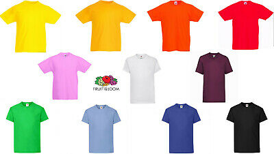 T-Shirt Bambino Fruit Of The Loom- Valueweight Kids-61033-Maglietta Manica Corta