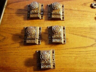 5-- Antique  Eastlake Victorian  Cast Iron Cabinet  Latches with receivers