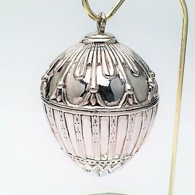 Rare J. Reed Sterling Silver Imperial 'Rabbit Egg' Ornament