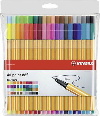 STABILO point 88 Fineliner colori assortiti - Astuccio da 40