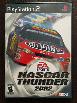 NASCAR Thunder 2002 (Sony PlayStation 2, 2001) PS2 w Case & Manual Very Nice!