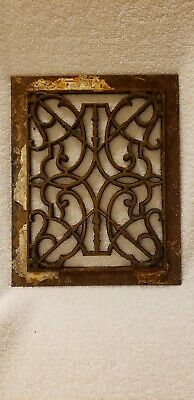Antique Cast Iron Decorative Victorian Floor / Wall Grate Salvage