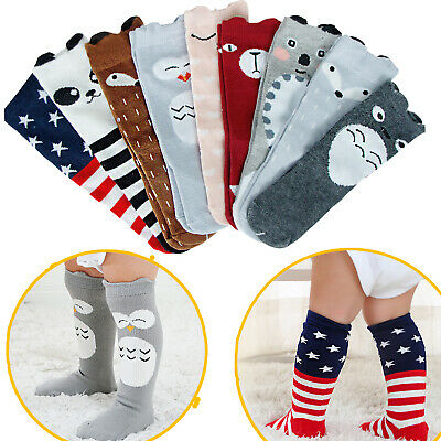 Baby Cute Cotton Knee High Anti-Slip Toddler Leg Warm Unisex Stockings for 0-3Y